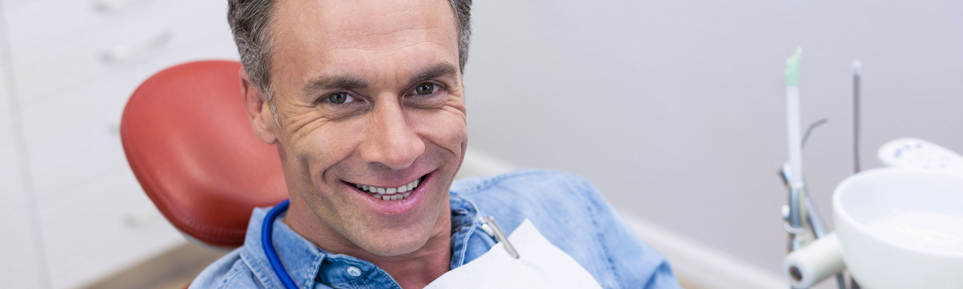 Middle aged man at dental office